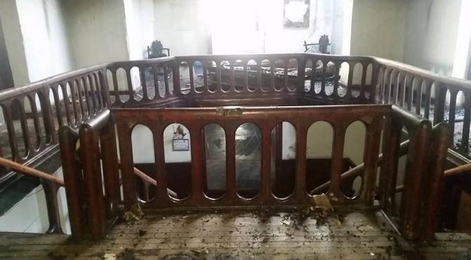 Taitu main building staircase (picture by Rahel Berhane)